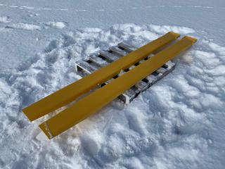 "NEW Skid steer fork extensions. 60"", 72"", 84"", 96"" lengths, 4 & 5"" width"