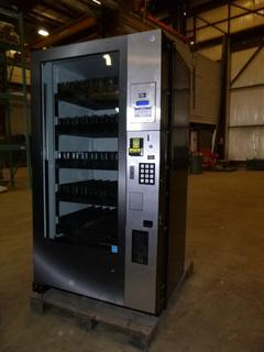 """Royal Vendors Vending Machine, Model RVRW-500-64, 39"""" W x 34.5""""D x 72"""" H, 8 Amps, S/N 20147PA00002, Accepts Coins and Bills, * Working Condition Unknown*"""