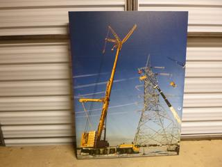 """Canvas Print, Building of an Electric Tower, 36"""" x 48"""" (WW)"""