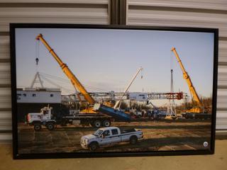 """Framed Canvas Print - Rig Set Up, 44"""" x 28"""" (SW)"""