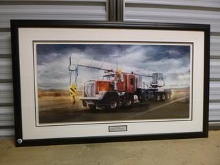 "Framed Truck Crane Print, 46"" x 28"" (WW)"