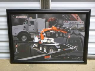 "Picker Truck - Framed Print. 33 1/2"" x 23 1/2"" (SW)"