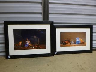 "(2) Framed Prints - Nightly Vessel Move, (1 - 28"" x 22""),(1 - 28"" x 19"")"