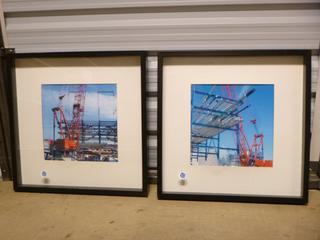 "(2) Box Framed Prints, 20 1/2"" x 20 1/2"" (SW)"