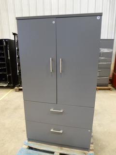 """Cabinet w/ 3-Shelves, 2-Drawers, 35 3/4""""x23 3/4""""x68"""" (WW-5-4)"""