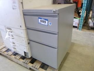 3 Drawer Metal File Cabinet w/ Key
