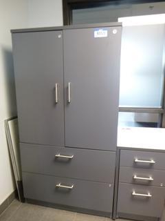 "Storage Cabinet c/w 2-Horizontal File Cabinet Drawer, 3-Upper Enclosed Shelves, 36""L x 24""W x 68""H (WW-5-2)"
