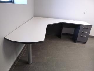 Corner Desk (7ft x 7ft) c/w 3-Drawer File Cabinet