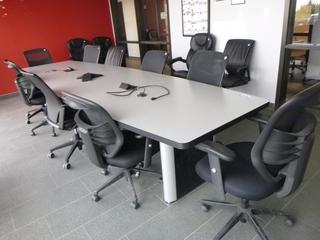 Boardroom Table 14ft c/w (10) Chairs (W-2-4-2)