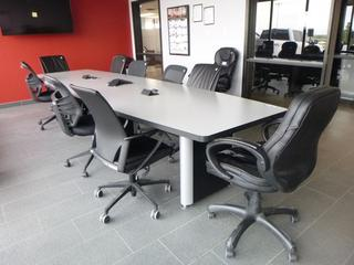 Boardroom Table 14ft c/w (9) Chairs (W-2-3-1)