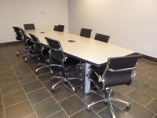 Boardroom Table 14ft c/w (10) Chairs