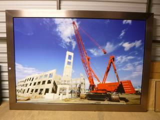 "Framed Canvas, Crane Lift, 80 1/4"" x 56 1/2"" (WW)"