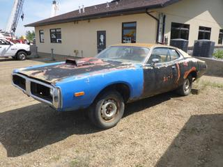 1973 Dodge Charger *NOTE: Parts Only, No engine, No Steering (Just Body)*, VIN WH23G3A153321