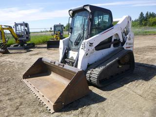 "2014 Bobcat T650 Compact Track Loader c/w 4 Cyl, 74 HP, Showing 5,278.7 Hours, A/C Cab, Heater, Joystick, Aux Hyd, 79"" Clean Up Bucket, High Flow, Rubber Tracks 76"" x 17"", Q/C, SN ALJG11306"