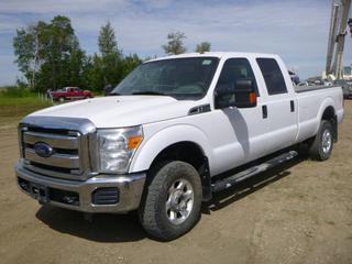 "2014 Ford F-350 XLT 4X4 Super Duty Crew Cab c/w 6.2L, A/T, A/C, Showing 116,696 KMS, 10,117 Hours, GVWR 10,800KG, 176"" W/B, 265/70R16 Tires At 60%, Front Axle Rating 2,177KG, Rear Axle Rating 6,290KG, Flex Fuel, VIN 1FT8W3B64EEA12067"