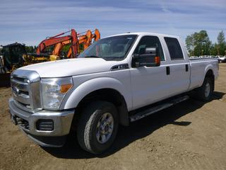 2014 Ford F-350 Super Duty XLT 4X4 Crew Cab c/w 6.2 V8, A/T, A/C, Showing 104,272 KMS, 8' Box, Flex Fuel, 265/70R17 Tires, VIN 1FT8W3B66EEA12068