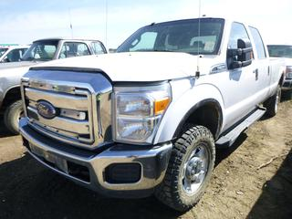 "2011 Ford F-350 XLT Super Duty 4X4 Crew Cab, c/w A/C, 347,345 KMS, GVWR 4,899KG, 176"" W/B, 265/70R17 Tires, Front Axle Rating 2,359KG, Rear Axle Rating 2,853KG, VIN 1FT8W3B60BEA28732 *NOTE: No Tailgate, Left Running Board Broken*"