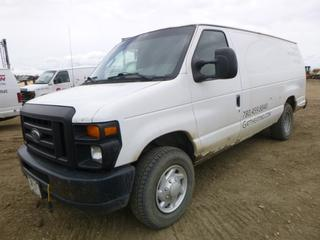2008 Ford E250 Cargo Van c/w Ecoline 5.4L, A/T, A/C, Showing 331,510 KMS, 245/75R16 Tires At 60%, VIN 1FTNS24L18DA72149