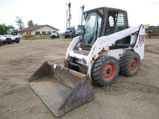 "2008 Bobcat S150 Skid Steer c/w Kubota 4 Cyl Diesel, Showing 8,824 Hours, Cab, Joystick, 73"" Clean up Bucket, Q/C, Aux Hyd, QC Sized, SN A3L111150"
