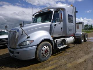 "2013 International Prostar Truck Tractor c/w Eaton Fuller 18 Speed, Diesel, A/C, Leather, GVWR 23,586KG, W/B 229"", 33"" Sleeper, 11R22.5 Tires At 80%, Front Axle Rating 5,443KG, Rear Axle Rating 9,071KG, Air Slide 5th Wheel, CVIP 08/2020, VIN 3HSDLSMR0DN086959"