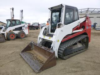 "2008 Takeuchi TL140 Compact Track Loader c/w 4 Cyl Isuzu, Diesel, AA-4JGIT, Hydrostatic, Showing 402 Hours, A/C Cab, Heater, Joystick, Aux Hyd, 74"" Clean Up Bucket, SN 21406546"