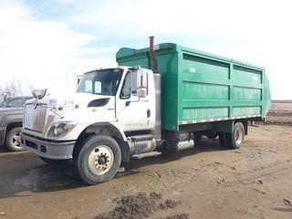 "2008 International 7300 Workstar Garbage Truck, Side Load c/w Magnaforce, 245 HP Diesel, A/T, A/C, PTO, Showing 270,837 KMS, 238"" W/B, Tires 11R22.5 at 70%, 12,000LB Front Axle Rating, 21,000LB Rear Axle Rating, VIN 1HTZZAANX8J674548 c/w 2009 Labrie Top Select TSRH, 231"" Box, SN TS09110VAE, Rear Camera, LS and RS Steering *NOTE: Rear Dent, LS Door Handle Cover Missing*"
