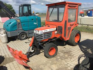 "Kubota B7300 Tractor c/w Diesel, ROPS, 3 Point Hitch, 60"" Blade. Showing 1616 Hours. S/N 15676"
