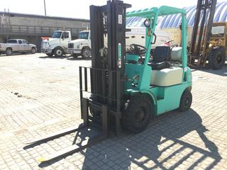 "2006 Artison FG25N Forklift 5,000 LB Capacity  c/w LPG, 188"" 3 Stage Mast w/Side Shift, Pneumatic Tires. S/N 6022104"