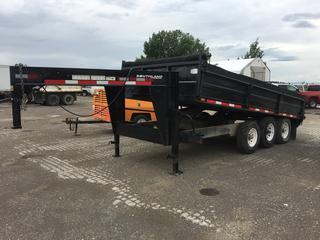 2007 Southland 16' Triaxle Gooseneck Trailer 21,000 LB Capacity c/w Landscaping Sides S/N 109G3283071288729