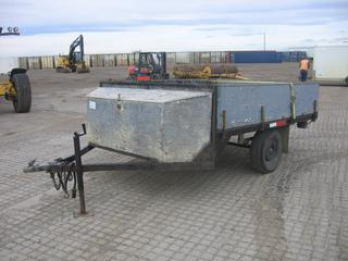 2000 Homemade S/A Ball Hitch Utility Trailer c/w ST205/75R14 Tires. S/N DM0557
