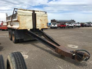 1980 McCoy T/A Gravel Pup Trailer c/w Air Ride Susp., Tarp, 11R22.5 Tires. Note:  No Serial Number.