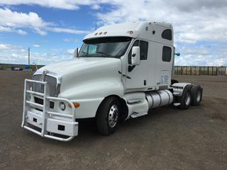 2003 Kenworth T2000 T/A Truck Tractor c/w 14.0L L6 Diesel, Eaton Fuller, A/C, 11R22.5 Tires. S/N 1XKTD69X43J969470 Note: Unable to see kilometers.