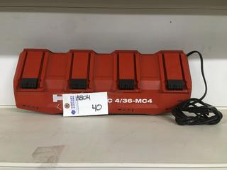 Hilti 4 Port Battery Charger, Model C 4/36-MC4.