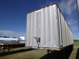 1973 Fruehauf 45ft X 8ft6in T/A Van Trailer C/w Side Door, Slide Susp. *Note: Missing Glad Hand, Rear Door Damage, S/N DXR362111 Note: Unable To Verify Vin*
