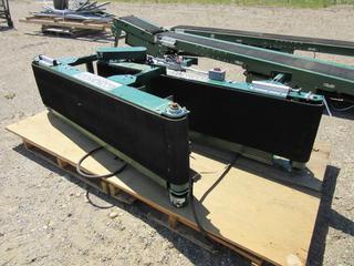 (2) Rapistan 6ft X 1ft X 18in Electric Conveyor Belt Assemblies