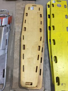 (2) Wooden Back Boards.