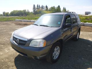 "2003 Mazda Tribute ES c/w V6 DOHC 24 Valve, AWD, A/C, Leather, Heated Seats, 6 Disc CD Player, Showing 249,022 KMS, 103"" W/B, 235/70R16 Tires At 40%, VIN 4F2CZ96123KM00349 *NOTE: Minor Body Rust, Needs Boost To Start*"