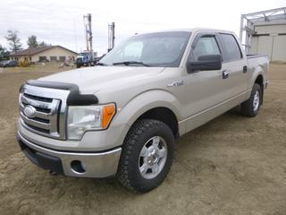 2009 Ford F150 XLT 4X4 Crew Cab Pick Up C/w Triton 5.4L, A/T, A/C, Fully Loaded, LT 265/70R17 Tires At 85%. Showing 284,763 KMS. VIN 1FTPW14V79KA27285 *NOTE: Oil Change Required Light On, Rust On Wheel Wells*