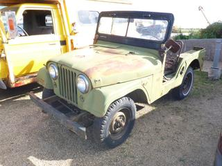 1957 Willys Jeep 57548, Showing 22243 KMS, SN 48316 *NOTE: Not Running Condition, Parts Missing*