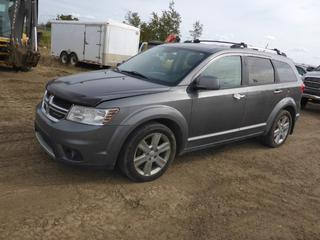 2012 Dodge Journey RT AWD, c/w A/T, A/C, Leather, Power Sunroof, Showing 232,904 KM, 225/55R19 Tires At 70%, VIN 3C4PDDFG5CT165662 Note: Starts w/Boost, Requires New Battery, rear left tire goes flat