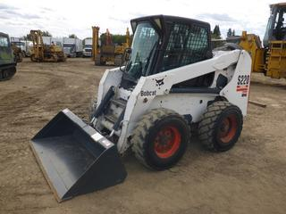 "2005 Bobcat S220 c/w Diesel, Showing 3,811 Hours, Cab, Heater, Joystick, Aux Hyd, Hand and Foot Controls, New Front Bushings and Pins, Q/A 72"" Clean Up Bucket, 12-16.6 At 40-65%, New Door Glass, SN 526214987 (Fichtenberg/Higher Ground Acreage Dispersal)"