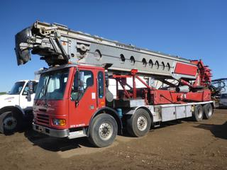 2007 American Lafrance Condor LLC TB-110-18 Telebelt By Putzmeister c/w Diesel, Showing 224,630 KMS, Belt Hours 5735 hrs, 425/65R22.5 Front Tires At 30%, 11R22.5 Rear Tires At 30%, Front Axle Rating 40,000 LB, Rear Axle Rating 44,000 LB, Horizontal Reach 32M, Vertical Reach 18M, VIN: 5SXMANDE07RY66474
