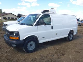 2003 Chevrolet 3500 Express Van (Insulated) c/w Vortec, Showing 88,294 KMS, 245/75R16 Tires At 60%, Thermo King Refrigerator, VIN 1GCHG35U831204765 *NOTE:  Side Door Does Not Fully Open*