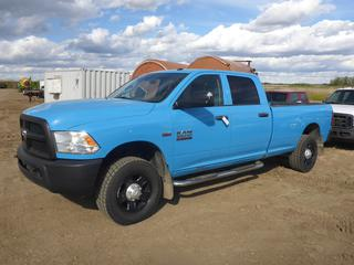 2014 Dodge Ram 3500 HD Crew Cab 4X4 Long Box c/w 5.7L Hemi, A/T, A/C, Showing 144,022 KMS, 275/65R18 Tires At 100%, VIN 3C63R3GT3EG169248 *Carfax In Documents Tab*