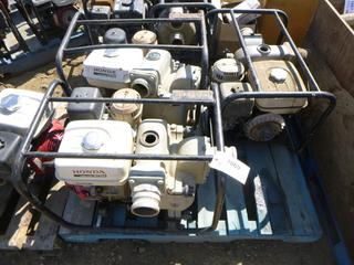 "(3) Honda 3"" Trash Pump, Model WT30X *NOTE: Running Condition Unknown*, (WR-2)"