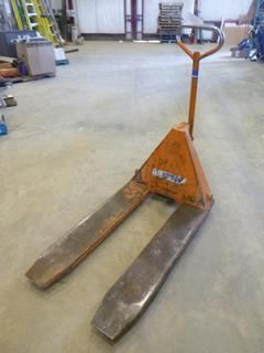 Blue Giant Pallet Jack, Model 27X42 , 5000 LBS Capacity, SN 8111021, (WR-2)