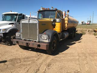 Selling Off-Site -  1980 Kenworth W900 Water Truck ( Tank Leaks) Vin # 908929M Showing 580,003 Km. County of 40 Mile Equipment, Located In Foremost, AB. Inquiries and viewing appointments please call (403) 867-3940, Monday through Friday 7:00 am to 4:30 pm