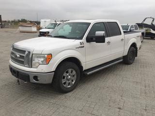 2011 Ford F150 Lariat 4x4 Quad Cab P/U c/w 5.9L V8, Auto, A/C, Showing 576,889 Kms. S/N 1FTFW1EF8BFB48909