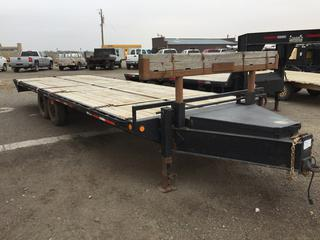 8'x24' T/A Pintle Hitch Deck Trailer c/w ST235/85R16 Tires. No Serial Number.