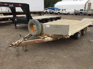 2005 RT Trailers 8'x14' T/A Ball Hitch Deck Trailer c/w ST225/75R15 Tires. S/N 2R9SS42A15W682428